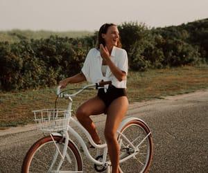 bike, biking, and girl image