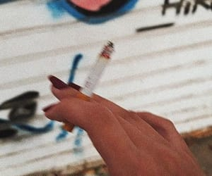 cigarette, colors, and fire image