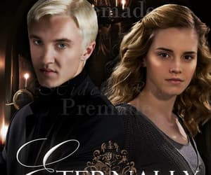 cover, draco malfoy, and hermione granger image