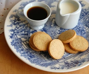 biscuits, milk, and cafe image