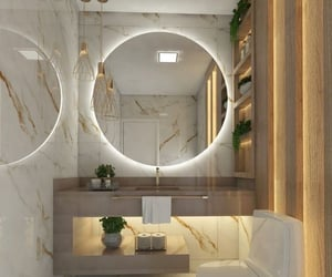 bathroom, gold, and homedesign image