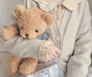 aesthetic, beige, and plush image