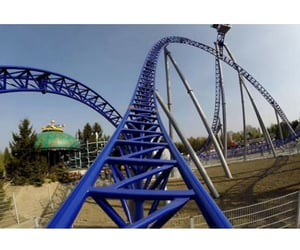 ride, amusement park, and rollercoaster image