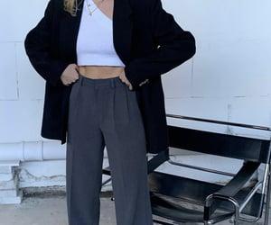 everyday look, black blazer, and asymmetrical top image