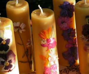 flowers and pillar candles image