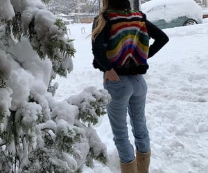 snow, everyday look, and winter wear image
