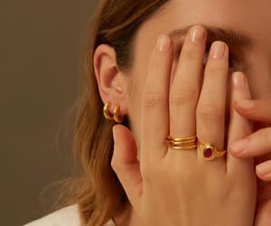 classic, gold, and ruby ring image