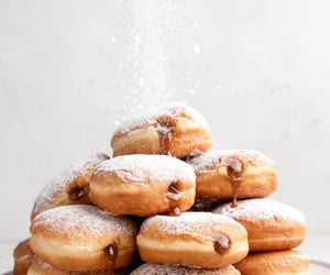 caramel, chocolate, and donuts image