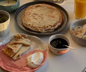 crepes, food, and yes image