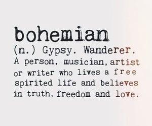 bohemian, freedom, and gypsy image