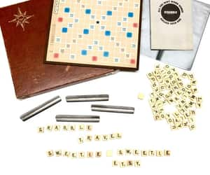 etsy, vintage board game, and scrabble travel image