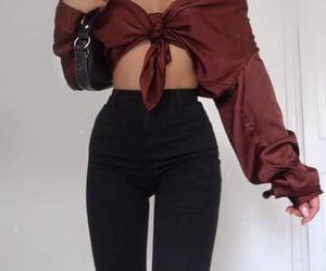 black jeans, fashionable, and fashionista image