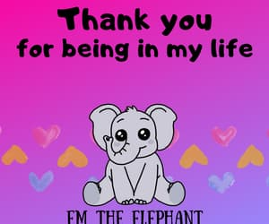 bff, elephant, and thank you image