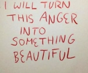 anger and beautiful image
