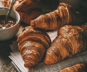 croissant, food, and coffee image