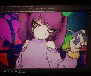 anime, pink, and banner image