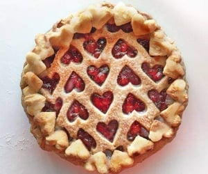 pie, food, and hearts image