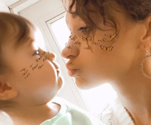 daughter, love, and kisses image