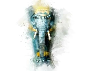 elephantdrawing, fivefriendsartists, and aquarelle image