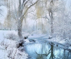 cold, reflection, and stream image