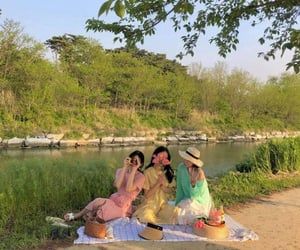aesthetic, picnic, and bff image