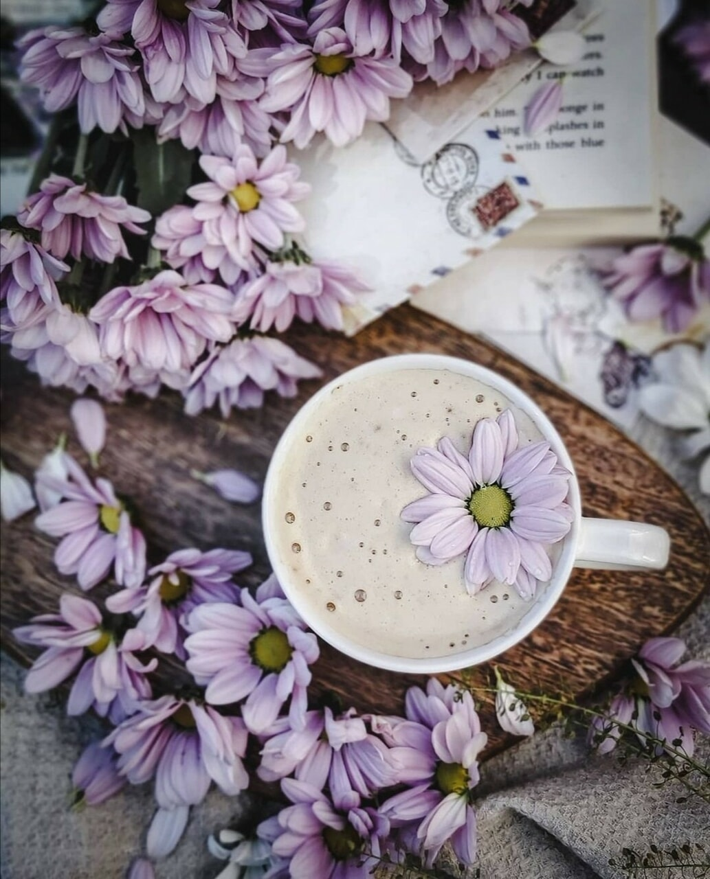 coffee, flowers, and coffee time image