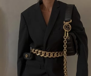 black, blazer, and classy image