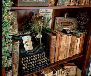 book, typewriter, and vintage image