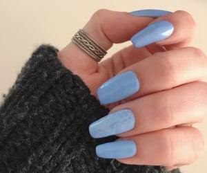 blue nails, nail art, and nail ideas image