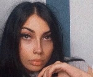 black hair, pose, and selfie image