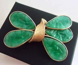 etsy, peking glass brooch, and green glass image