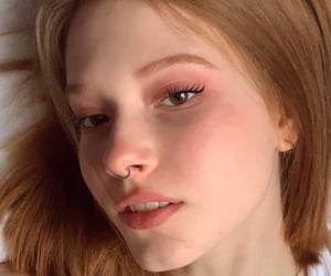 face, nose ring, and redhead image