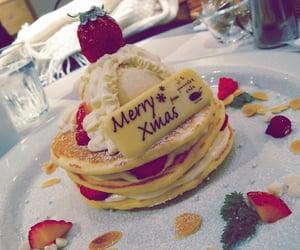 christmas, powder sugar, and strawberries image