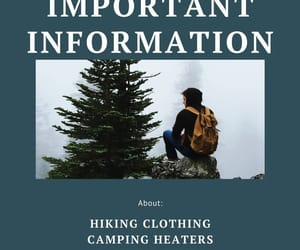 hiking, sleeping bags, and tents image