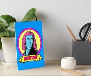newton, retro poster, and physicist image