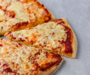 cheese, cheesy, and pizza image