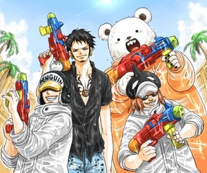 Law, one piece, and penguin image