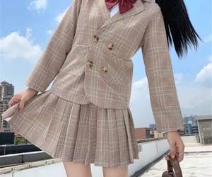 aesthetic, bag, and school girl image