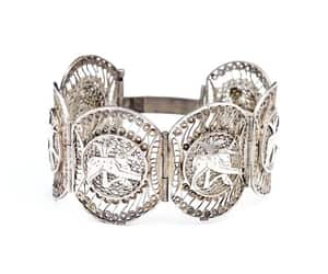 bird, sterling silver, and vintage jewelry image