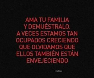amor, familia, and phrases image