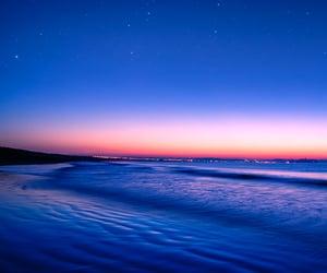 beaches, sundown, and sunset image