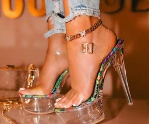 heels, shoes, and stripper heels image