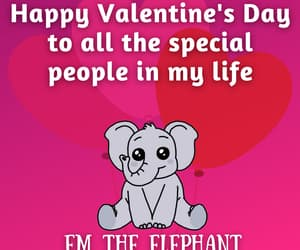elephant, bffs, and valentines day image