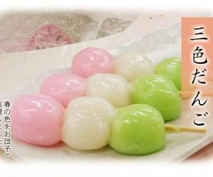 food, kawaii, and hanami dango image