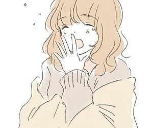anime, sleepy, and watercolor art image
