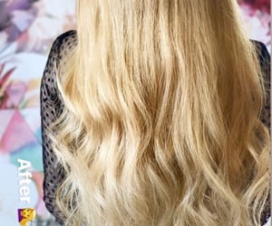 blond, blonde girl, and hair image
