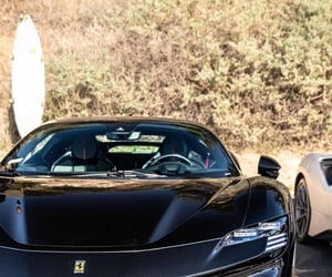 black, sports car, and cars image