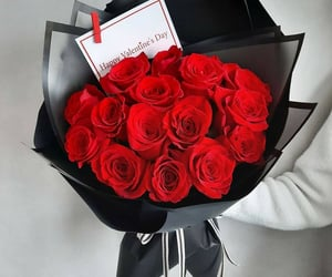 bouquet, flowers, and red image
