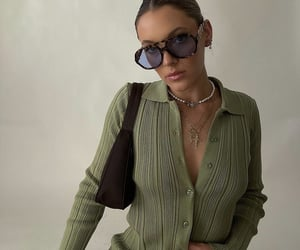 green dress, long sleeve, and summer inspo image