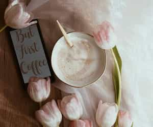 coffee, flowers, and inspiration image